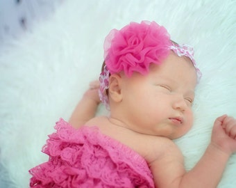 SWEET PEA Pink Petty Puff Leopard Baby Headband