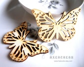 50% DISCOUNT-6 PCS 55x40mm Pretty Nature Butterfly Wooden Charm/Pendant MH129 11