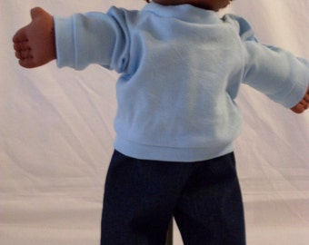 """16"""" Boy Cabbage Patch Blue Shirt and Pant"""