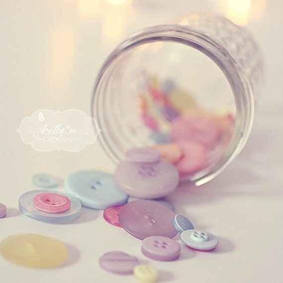 spilled jar of buttons print