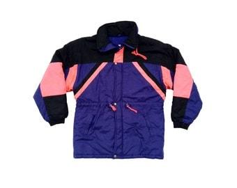 Bodacious 80s Neon New Face Ski Parka - S