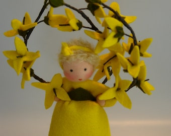Forsythia  - Flower Child - Waldorf Inspired - Nature Table