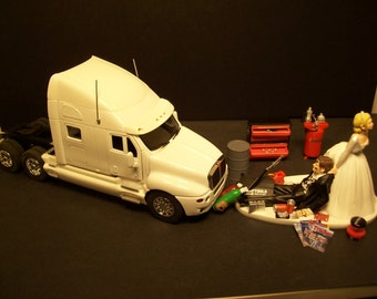 semi truck wedding cake toppers auto mechanic k amp w kenworth t 2000 black tractor by mikeg1968 19742