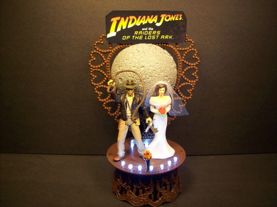 Indiana Jones Wedding Cake Topper
