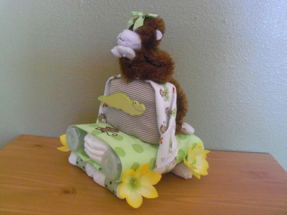 Baby Boy or Girl (Neutral) Diaper Car - an adorable baby shower gift, made to order