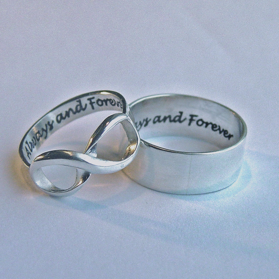 His And Hers Jewelry Infinity Ring Set Always & Forever