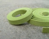 5 Yds(450 cm or 15Ft) Lime Green -5 of 900X10mm Faux Suede Lace Straps (FS10-38)