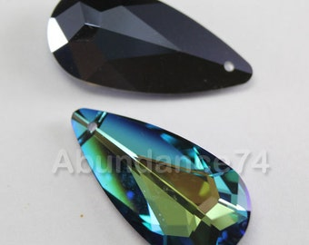 Swarovski Crystal 6100 Tear Drop Pendant 22mm x 12mm Crystal Bermuda Blue