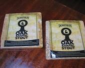 Dominion Oak Barrel Stout Natural Stone Coasters