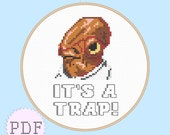 INSTANT DOWNLOAD Cross Stitch PDF Pattern Admiral Ackbar