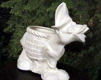 Donkey, Mule, Flower pot, Donkey with sneakers,Shoes,Flower vase,Donkey planter,Animal pot, vase,Ceramic bisque,u-paint,Ready to paint,