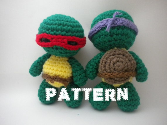 Crochet Ninja Turtle : Crochet Pattern - Mini Turtle Ninjas Amigurumi - PDF file How to ...