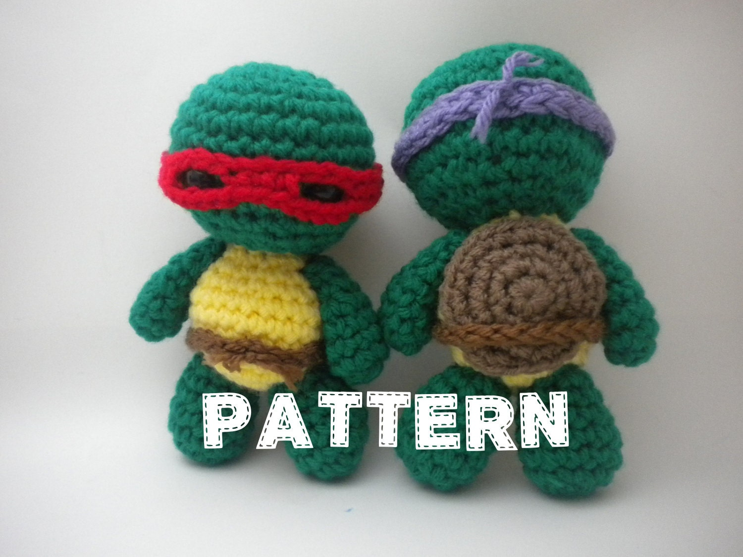 Amigurumi Ninja Turtle : Crochet Pattern Mini Turtle Ninjas Amigurumi PDF file How