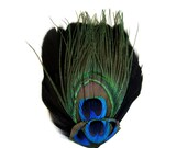 FEATHER PAD natural peacock craft supplies
