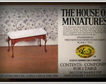 Queen Anne Serving Table Kit #40059 House of Miniatures