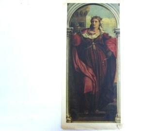 Vintage Renaissance Art Print Saint Christmas