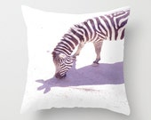 Pillow Cover, Zebra Pillow, Photo Pillow, Home Decor, Living Room, Bedroom, Room Decor - READY TO SHIP