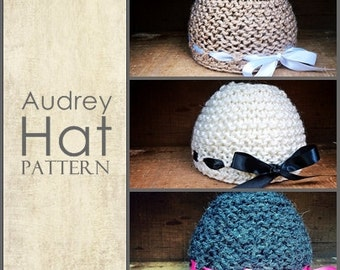The Audrey Hat PDF Knitting Pattern (baby - adult)