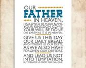 The Lord's Prayer. Matthew 6:9-13. DIY. PDF. 8x10 Printable Scripture Poster. Bible Verse.