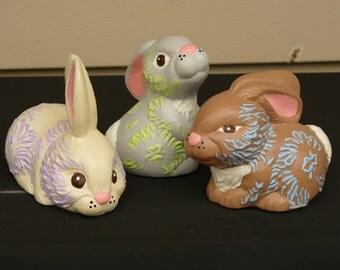 Set of Three Small Bunnies