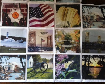 """Custom Photo Quilt Patches Imaged with Your Photos up to 8.5""""X11"""""""
