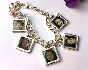 Photo Charm Bracelet, Photo Jewelry