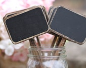 Chalkboard Table Numbers Rustic Chalkboard Signs Distressed Wedding Chalkboard Sticks, Cupcake Topper, Shabby Chic Wedding, Set Of 5