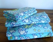 HOLD for RedEmpress- Vintage late 60's Peter Max Bedding Peace, Yellow Stars and Doves  Bedding