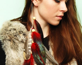 Feather Hair Extension - Wild Mix