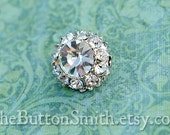 """Rhinestone Buttons """"Leah"""" (18mm) RS-015 - 20 piece set S"""