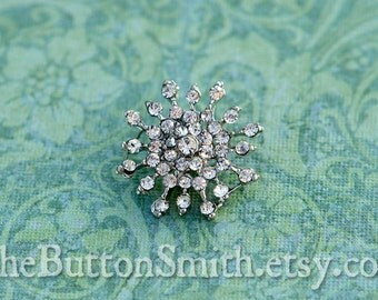 """Rhinestone Buttons """"Ava"""" (19mm) RS-030 - 20 piece set S"""