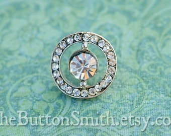 Rhinestone Buttons -Anna- (19mm) RS-021 - 20 piece set