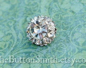"Rhinestone Buttons ""Leah"" (18mm) RS-015 - 20 piece set S"