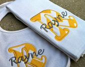 Chevron Baby Gift Set of Burp Cloth and Bib