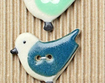 5 Large Birds Buttons