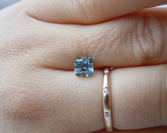 Genuine Montana Sapphire Cushion Cut 1.33 carat Blue Silver and Gold Color Change Loose Gemstone