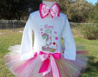 Cupcake Spring Fun tutu outfit personalized free