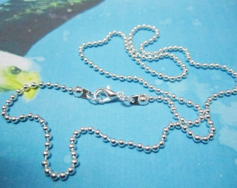 12pc 22 inch silver plated shiny  ball chain necklace