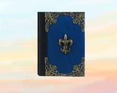 Blue notebook, Handmade journal, Personalized journal, Vintage notebook, Small Notebook, Blank journal, Blue notebook, Metal decoration