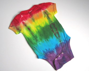 Rainbow Organic One-piece, Tie Dyed, Cotton, 12 months