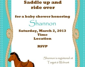 Horse invitation baby shower invitation horse invite birthday invitation rocking horse invitation rocking horse invite