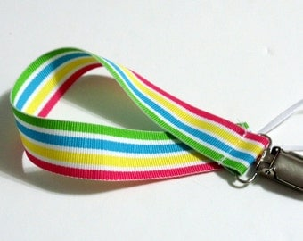 Pastel Ribbon Pacifier Clip Pacifier Holder