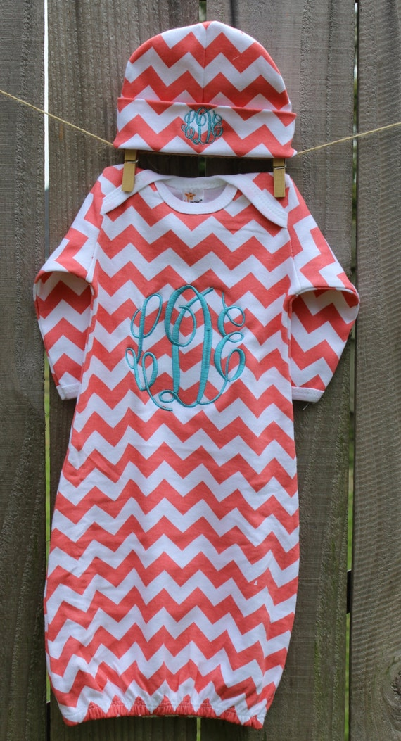 Items Similar To Chevron Personalized Infant Baby Gown