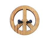 GUITAR HANGER / PEACE Sign / Woodburned Edges