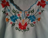 Vintage Embroidered Mexican Blouse