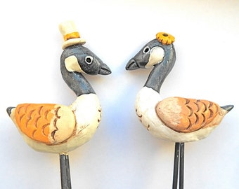 Wedding Cake Topper Canadian Geese In Love