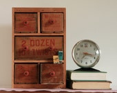 RESERVED for Rinat - Multi Drawer Apothecary Cabinet or Desk Organizer from Repurposed Vintage Cheese Boxes