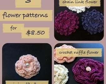 INSTANT DOWNLOAD 3 Flower Pattern Pack
