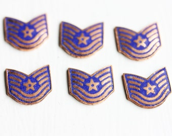 Metal Shield Cabochons (6x)