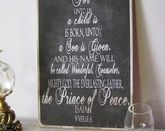 Christmas Tree Chalkboard Sign for Dollhouse